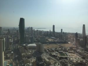 Terrain de football au coeur de Koweït City. Photo (c) Bulent Inan.
