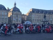 Les motards de noël envahissent Bordeaux-cdo