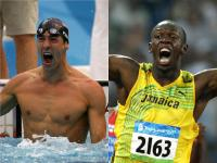Michael Phelps & Usain Bolt (c) DR