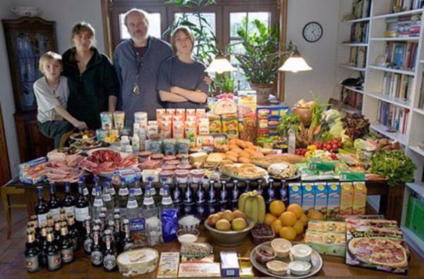 Allemagne : la famille Melander 375 euros pour deux adultes et deux enfants.
