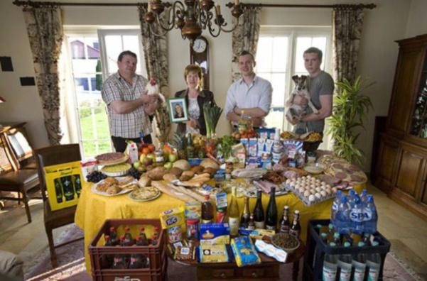 Luxembourg : la famille Kuttan-Kasses. 347€ pour quatre adultes.