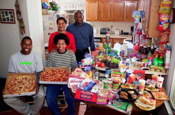 Etats-Unis : la famille Revis. 341€ pour deux adultes et deux ados.