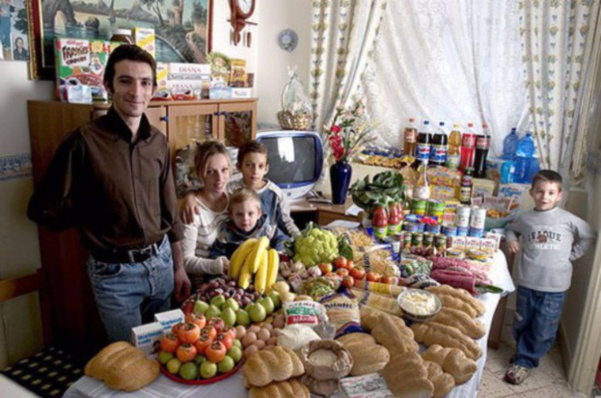 Italie : la famille Manzo. 260€ pour deux adultes et trois enfants.