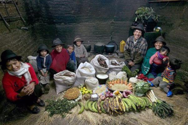 Equateur : la famille Ayme. 31€ pour quatre adultes et cinq enfants.