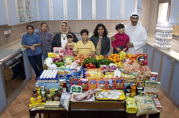 Koweït : la famille Al Haggan. 197€ pour deux adultes, trois ados, et trois enfants.