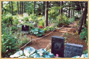 Une cimetière pour les animaux de compagnie au Canada.
