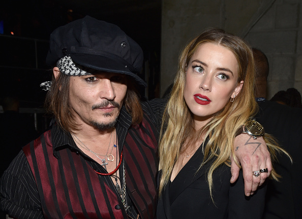 Johnny Depp et Amber Heard (getty images)