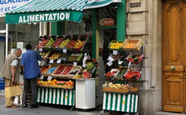 Commerce de quartier. Image du domaine public.