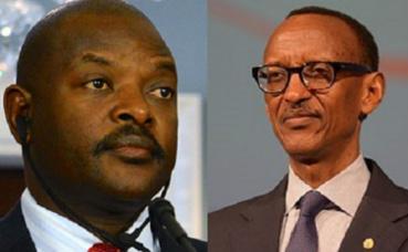Pierre Nkurunziza (à gauche) et Paul Kagame (à droite) images du domaine public