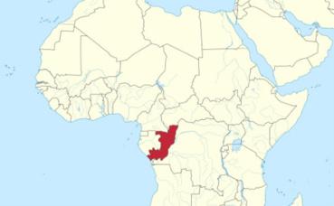 La république de Congo sur la carte (c) TUBS