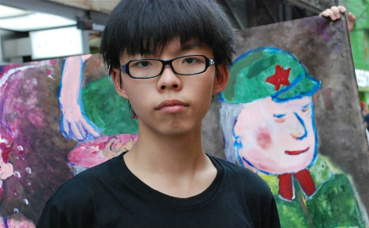 Joshua Wong. Photo (c) VOA