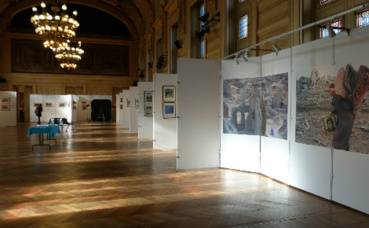 Salon de la photo à la mairie du 13e arrondissement de Paris, grande salle des fêtes. Photo (c) Sophie Dongois