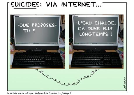 Suicides via internet ...