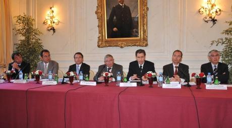 Le Gouvernement Princier. De gauche à droite: Messieurs Colle, Campana, Masseron, Proust, Tonnelli, Calcagno, Biancheri. Photo (c) Charly Gallo