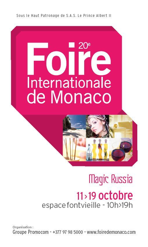 LA FOIRE INTERNATIONALE DE MONACO A 20 ANS!