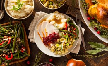 Repas de Thanksgiving. Photo (c) Inmagine, publiée avec l'autorisation du détenteur des droits.