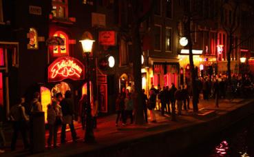 Le quartier rouge à Amsterdam. Photo du domaine public