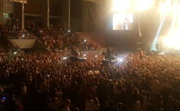 Les Fréro Delavega en concert à l'Arène de Païta, novembre 2016. Photo © Loreleï Aubry