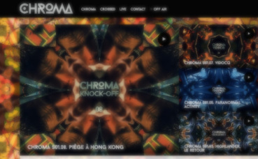 """Le site de """"Chroma"""". Cliquez ici pour y accéder"""