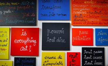 Les écritures de Ben. Photo © Audrey Pariès