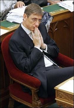 Ferenc Gyurcsany, Premier ministre dans la tourmente financière Photo (c) DR