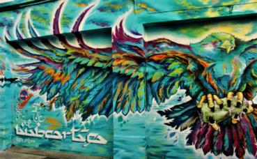Art urbain, rue des Bergers, à Grenoble. Photo (c) Anaïs Mariotti
