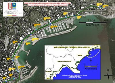 RIVIERA FRANCAISE: Démarrage de la ligne 18