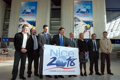 Présentation du logo de Nice pour les J.O. de 2018