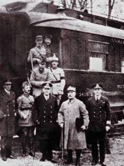 Photo prise à l'issue de la signature de l'armistice