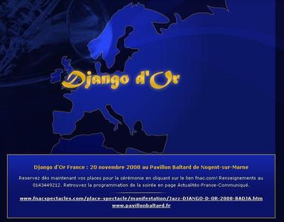 Arts, Nuances, Culture - 17e cérémonie des Django d'Or Trophées Internationaux du Jazz