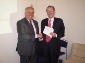 Robert Fabre, Président de la Compagnie Fruitière et Jacques Hintzy, Président de l'Unicef France. Photo DR