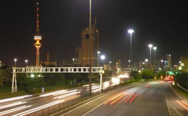 Tour de la Libération située à Koweït City, à proximité du ministère koweïtien de l'Information et de la Jeunesse. Image du domaine public.