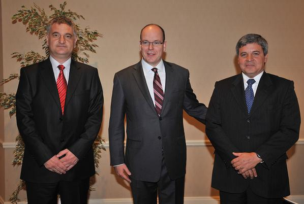 Vasil Kirov, SAS le Prince Albert II, Antonio Gustavo Rodrígues - Photo (c) Charly Gallo CDP