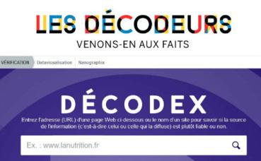 Cliquez ici  pour accéder au Décodex sur le site officiel