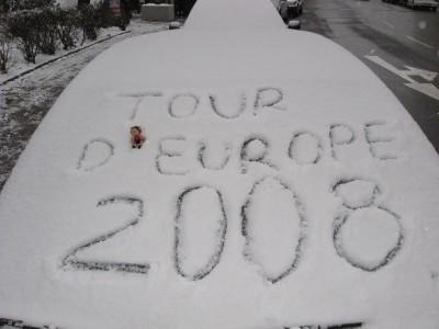 Date de la fin du 'Tour d'Europe 2008' en auto-stop