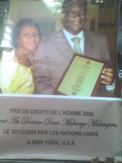 Un médecin de Bukavu lauréat du prix de droits de l'Homme de l'ONU.