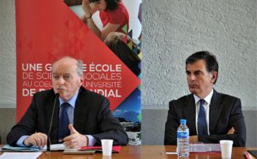 Jacques Toubon (à gauche), et Jacques Dallest (procureur de la république à la CA de Grenoble). Photo © Anaïs Mariotti