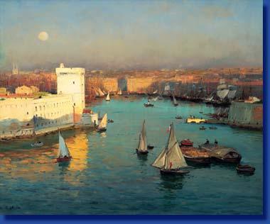 Jean-Baptiste OLIVE: Vieux-Port vu du Pharo