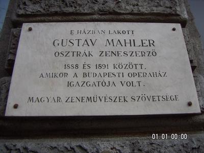 Le compositeur et chef d'orchestre autrichien a vécu dans cet immeuble (photo Colette Dehalle)
