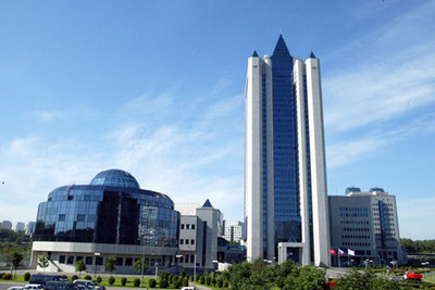 le siège de Gazprom (source Wikipedia)