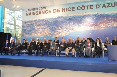 NICE COTE D'AZUR CELEBRE LA NAISSANCE DE LA COMMUNAUTE URBAINE