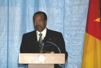 Paul Biya, président du Cameroun, photo wikipedia.org