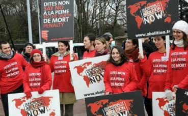 Manifestation à Genève, en 2010, pour l'abolition universelle de la peine de mort. Photo (c) Cécile Thimoreau.