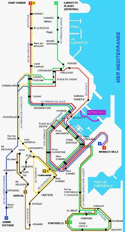 Nouveaux horaires des bus à Monaco