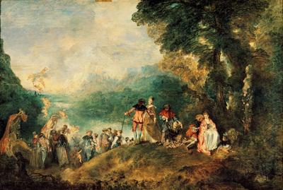 L'embarquement pour Cythère de Watteau
