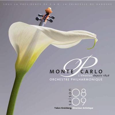Le programme de l'Orchestre Philharmonique de Monte-Carlo, de mars à août 2009