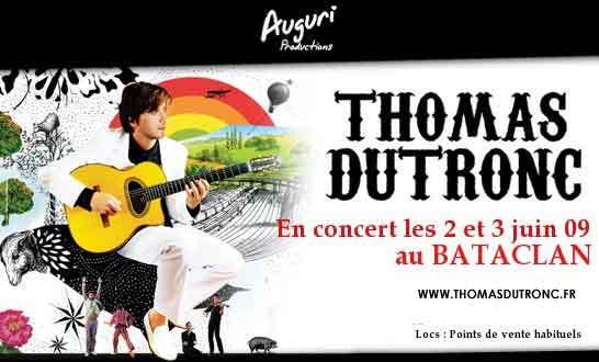 Thomas Dutronc en concert au Bataclan les 2 et 3 juin 2009