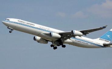 Airbus A340-300 de Kuwait Airways. Photo (c) Adrian Pingstone.