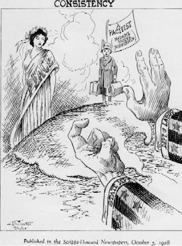 Rosika Schwimmer, dans un dessin publié en 1928
