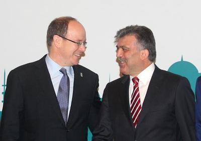 S.A.S. le Prince Albert II et S.E. M. Abdullah GÜL, Président de la République de Turquie. Photo (c) AFP